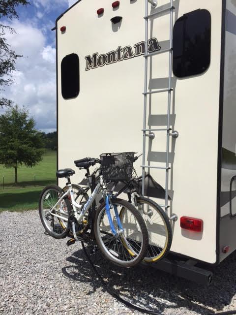 Fifth Wheel Bike Carrier Bumpers : Bike rack on bumper montana owners club keystone